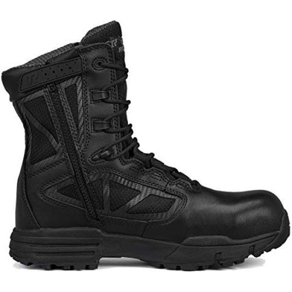 """Belleville Tactical Research TR Combat Boot 2 Belleville Tactical Research TR Men's TR Chrome TR998Z WP CT 8"""" Waterproof Side-Zip Composite Toe Boot"""