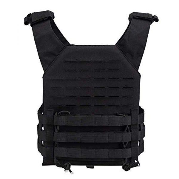 OneTigris Airsoft Tactical Vest 3 OneTigris Black Tactical Vest & Chest Rig Set