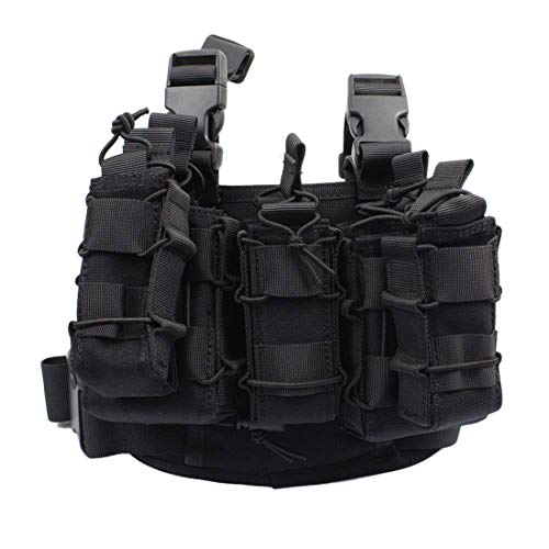 WOLFBUSH  1 WOLFBUSH 1000D Tactical Mag Pouch MOLLE Tactical Leg Platform for 7.62/9mm Cartridge for Hunting/Paintball/Airsoft