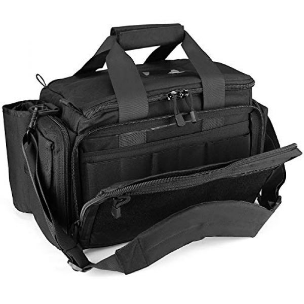 ProCase Pistol Case 2 ProCase Tactical Gun Range Bag Pistol Shooting Duffle Bag Bundle with Multipurpose Carry Pistol Holster Fanny Pack Waist Bag for Handgun