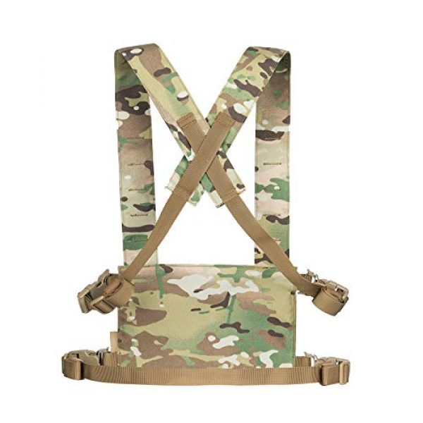 OneTigris Airsoft Tactical Vest 2 OneTigris Chest Rig Tactical Panel Placard Adapter (Multicam)