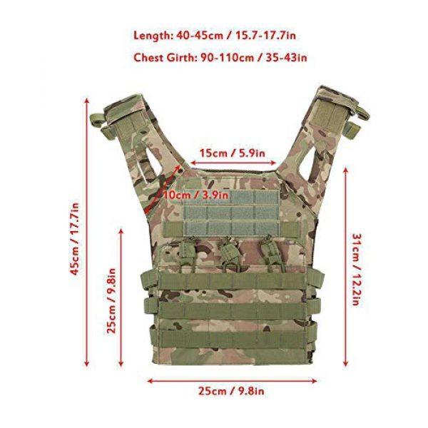 GXYWAN Airsoft Tactical Vest 3 GXYWAN Tactical Vest, Ghost Anti-War Vest Combat Uniform Camouflage Line Vest (Black)