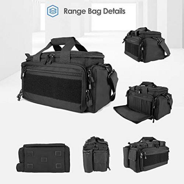 Polaland Pistol Case 4 Polaland Tactical Gun Range Bag Pistol Shooting Duffle Bag, Deluxe Padded Shooting Range Bag Large Handguns Magazine Ammo Gear Accessories Pouch for Hunting Shooting Range Sport