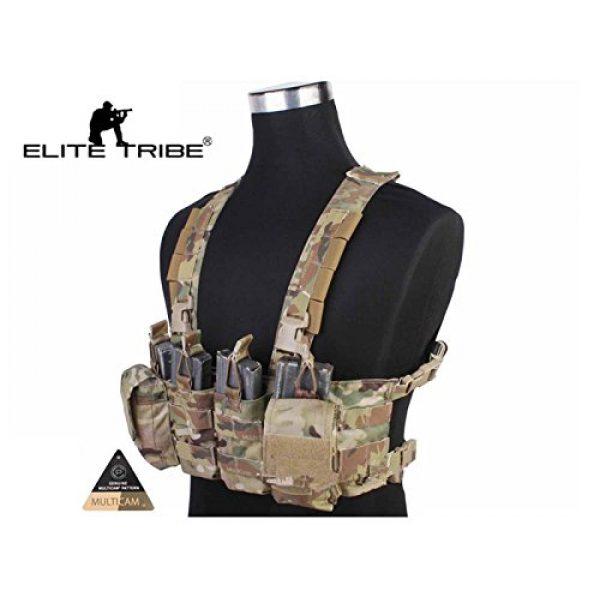 Elite Tribe Airsoft Tactical Vest 2 Tactical Vest Easy Chest Rig Military Carrier Vest Multicam