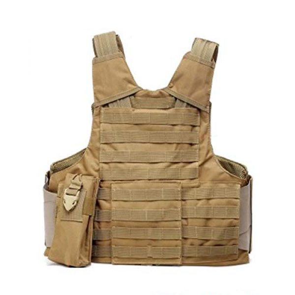 GXYWAN Airsoft Tactical Vest 6 GXYWAN Tactical Vest, Ghost Anti-War Vest Combat Suit Camouflage Wire Vest Eight-Piece Suit Camouflage Combat Vest