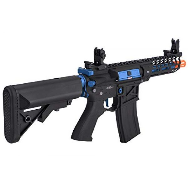 Lancer Tactical Airsoft Rifle 5 Lancer Tactical LT-29BACNL-G2-ME Enforcer AEG Airsoft Rifle Skeleton Black and Navy Blue 350 FPS