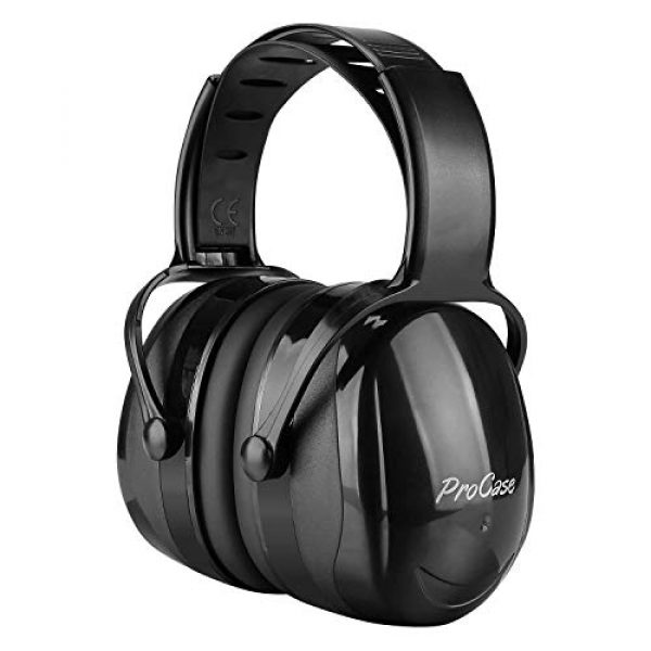 ProCase Pistol Case 6 ProCase Tactical Gun Range Bag Pistol Shooting Duffle Bag Bundle with Noise Reduction Safety Ear Muffs Headset SNR 36dB Earmuffs for Ear Hearing Protection