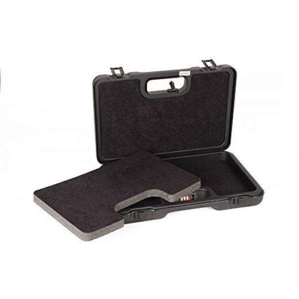 Negrini Cases Pistol Case 4 Negrini Cases 2023UTS/4839 Handgun Case (1 Gun), Black/Black