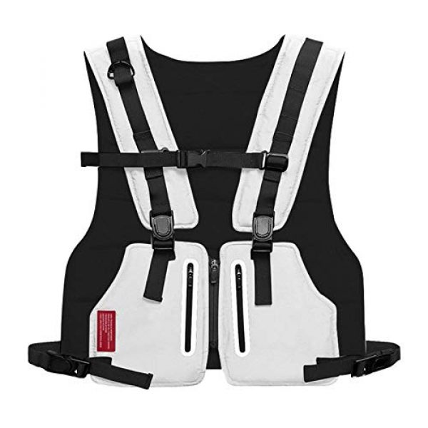 Armiya Airsoft Tactical Vest 1 Mens Molle Tactical Military Chest Rig Law Enforcement Work Reflective Vest Combat Condor Security Training Tool Pouch for Outdoor Paintball CS Game Airsoft Climbing Hiking (White)