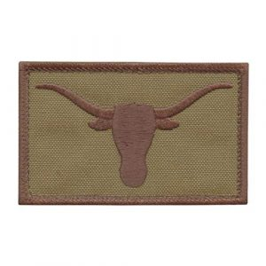 LEGEEON Airsoft Morale Patch 1 LEGEEON Texas Longhorn Tan Coyote Lone Star USA Army Tactical Morale Hook&Loop Cap Patch