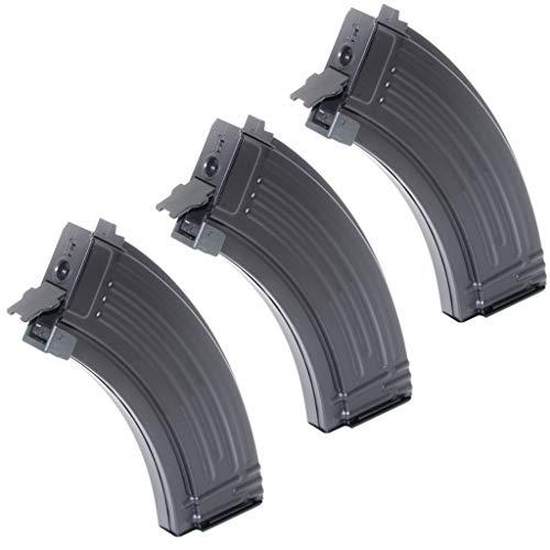 Generica  1 Airsoft Spare Parts 3pcs 500rd Mag Hi-Cap Magazine for AEG AK-Series Black