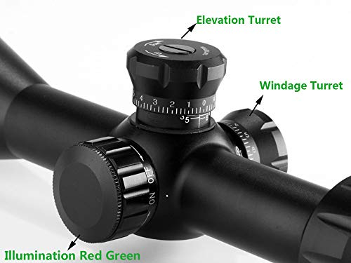 Marcool  4 Marcool AK Riflescopes 3-18x50 FFP HD Glass Aim Red Dot Tactical Hunting Optical Sight Rifle Scope