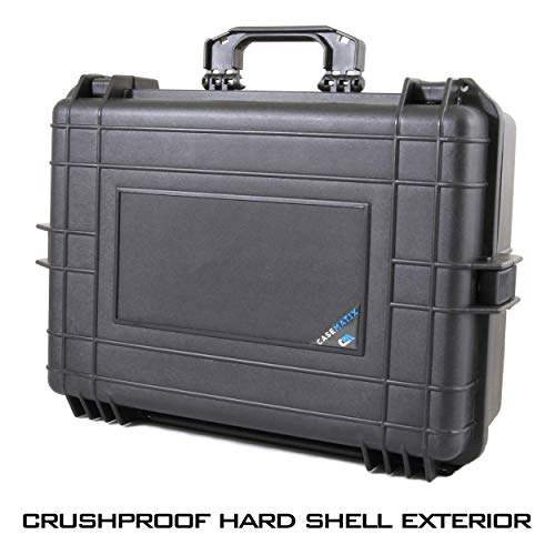 """CASEMATIX Pistol Case 2 CASEMATIX 23"""" Customizable 7 Pistol Multiple Pistol Case - Waterproof & Shockproof Hard Gun Cases for Pistols, Magazines and Accessories - Multi Gun Case for Pistols with Two Layers of 2"""" Thick Foam"""