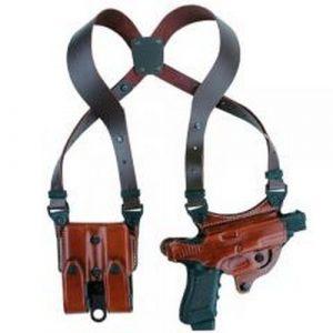 Aker Leather Gun Shoulder Holster 1 Aker Leather 107 Flatsider Xr7 Shoulder Holster Colt 1911/Clones Left Hand Tan