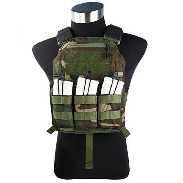 BGJ Airsoft Tactical Vest 7 BGJ Outdoor Tactical Vest Woodland 500D Cordura Domestic Fabric
