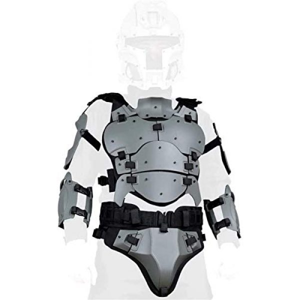 EBWLI Airsoft Tactical Vest 5 EBWLI Paintball Helmet and Armor Set, Hunting Paintball Protective Carrier Shooting Accessories with Waist Belt, for Airsoft/Nerf Game/Paintball,Black (Color : Gray)