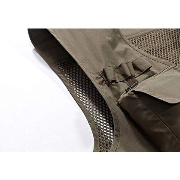 DAFREW Airsoft Tactical Vest 5 DAFREW Men's Casual Vest Outdoor Photography Vest Quick Dry Multi-Pocket Vest (Color : Khaki, Size : XL)