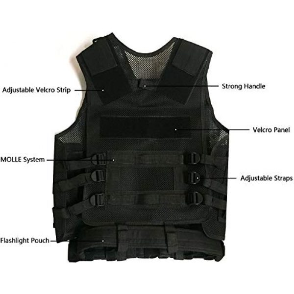 HAOWUTX Airsoft Tactical Vest 5 HAOWUTX Tactical Vest Outdoor Military Vest Wild Adventure Airsoft Hunting Tactical Vest