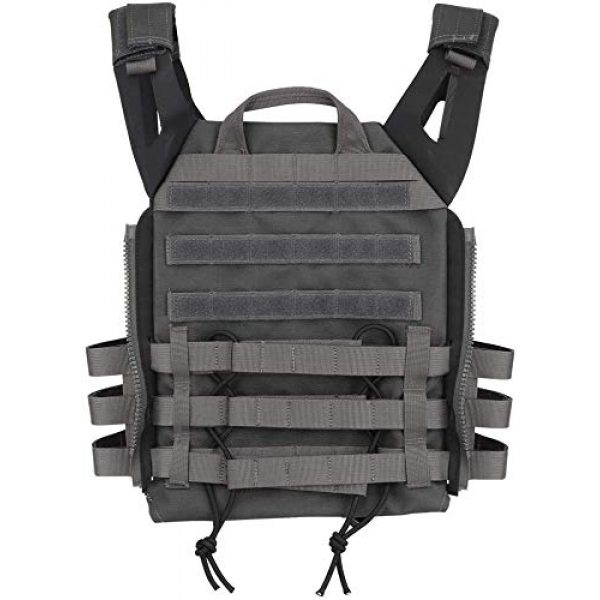 LEJIE Airsoft Tactical Vest 2 Lejie Tactical CS Field Vest Outdoor Hunting Training Airsoft Protective MOLLE Vest for Adults Adjustable