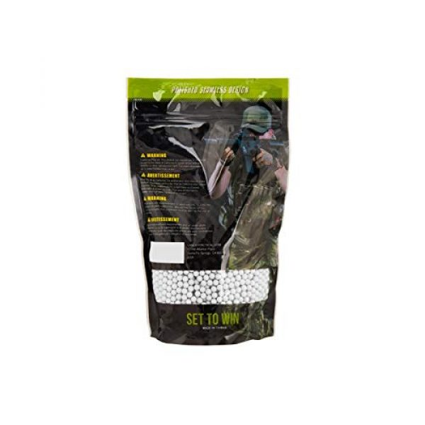 Lancer Tactical Airsoft BB 2 Lancer Tactical Eco-Ammo 0.40g BBS White 2500 ct for Airsoft High FPS Performance Biodegradable