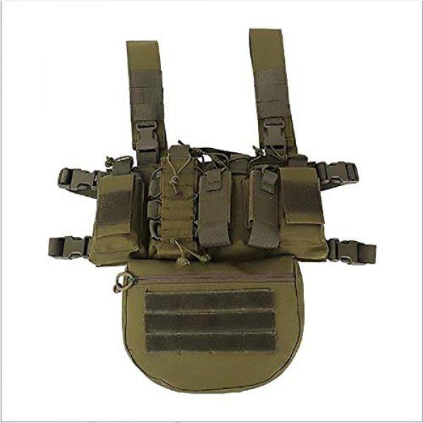 WEQ Airsoft Tactical Vest 1 WEQ Outdoor Tactical Vest Ultra-Light Breathable Modular Combat Training Vest Outdoor Combat Chest Vest Hanging Adjustable (Color : #E)