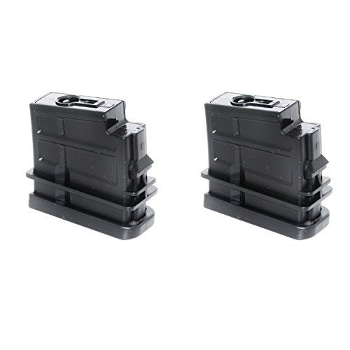 Airsoft Shopping Mall  1 Airsoft Shooting Gear 2pcs 16rd Mag Short Type Magazine For Jing Gong (JG) SL8 G36 AEG Black