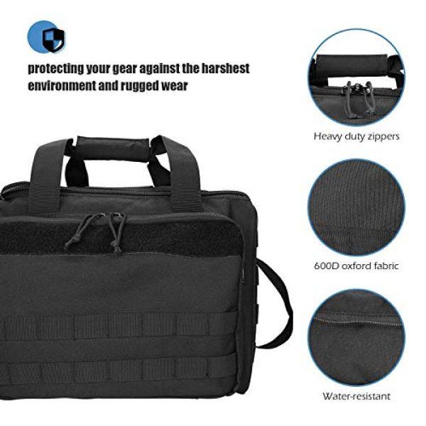 ProCase Pistol Case 2 ProCase Tactical Gun Range Bag for Handguns, Pistols and Ammo Bundle with Tactical Pistol Mag Pouch -Black