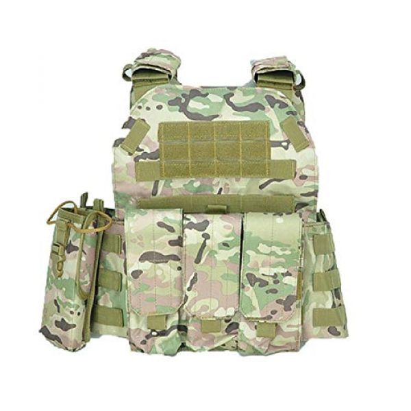 BGJ Airsoft Tactical Vest 1 BGJ Military Tactical Vest Army Airsoft Molle Vest CS Game Combat Gear Outdoor Various Accessory Kit Hunting Clothing Vest Multicam