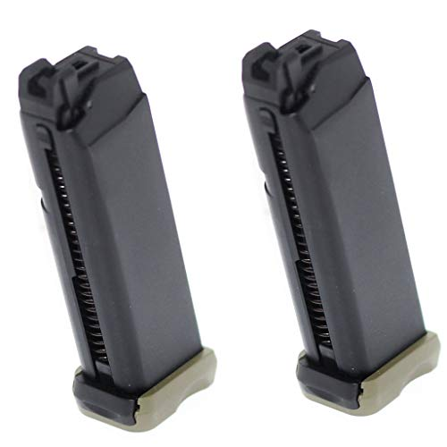 Generica  1 Generica Airsoft Spare Parts APS 2pcs 23rd CO2 Magazine for ACP601 ACP606 A-Cap Z1-Cap Black Hornet Dragonfly Scorpion Shark Spyder X1-Cap/Tokyo Marui/WE/Armorer Works Black/Green OD