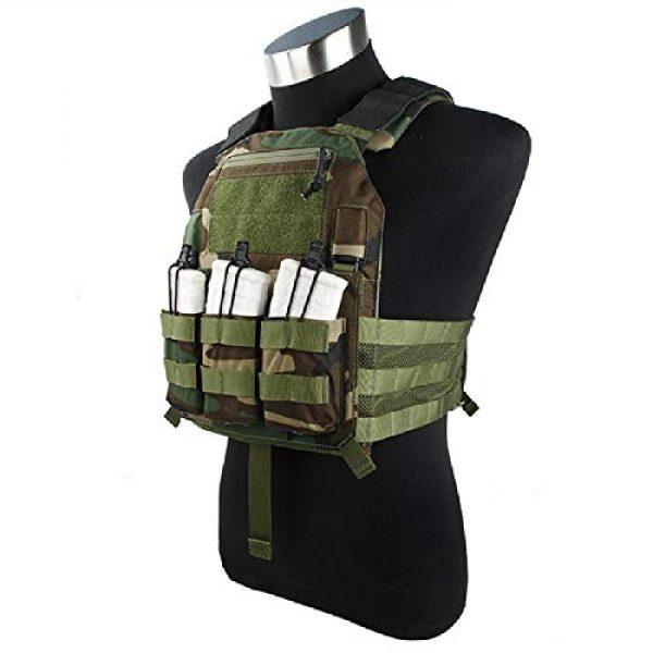 BGJ Airsoft Tactical Vest 3 BGJ Outdoor Tactical Vest Woodland 500D Cordura Domestic Fabric