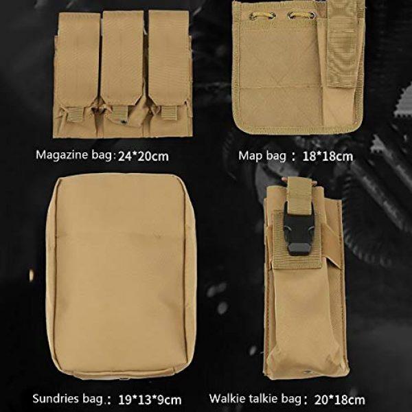 WEQ Airsoft Tactical Vest 7 WEQ Multifunctional Tactical Vest Modular Vest Reconnaissance Field CS Combat Vest (Color : #E)