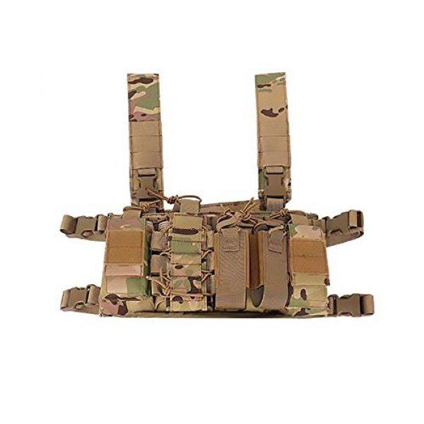 WEQ Airsoft Tactical Vest 1 WEQ Multifunctional Tactical Vest Outdoor Equipment Tactical Chest Hanging Combat Training Vest (Color : #B)