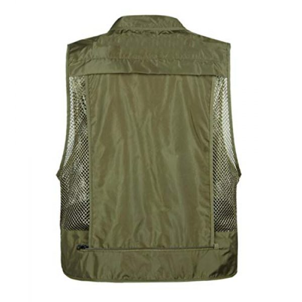 DAFREW Airsoft Tactical Vest 2 DAFREW Men Outdoor Sport Multi-Pocket Mesh Vest Fly Fishing Photography Shooting Travel Quick-Dry Jacket Waistcoat (Color : Shallow Army Green, Size : M)