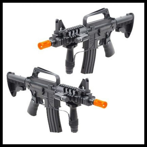 Double Eagle Airsoft Rifle 1 double eagle spring m16a5 assault rifle grip, 240 fps collapsible stock airsoft gun(Airsoft Gun)
