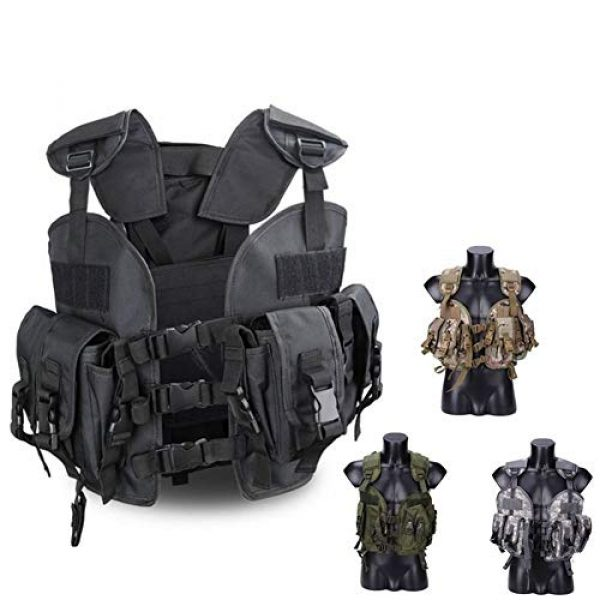 Shefure Airsoft Tactical Vest 2 Shefure The Seal Men Tactical Hunting Armor Vest Combat CS Wargame Military Camouflage Waterproof Water Bag Pouches Tactical Gear