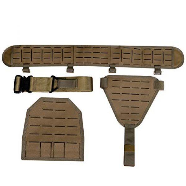 DETECH Airsoft Tactical Vest 7 DETECH Molle Padded Modular Belt Sleeve Tactical Inner Belt Drop Leg Platform Panel, Hip Panel Laser Cutting PALS Combo