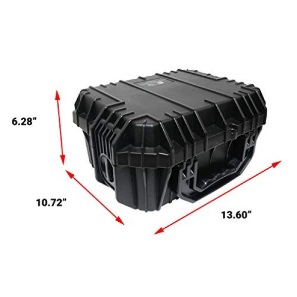 Case Club Pistol Case 5 Case Club Desert Eagle Pre-Cut Waterproof Case with Storage for 4 Extra Magazines & 1 Extra Barrel