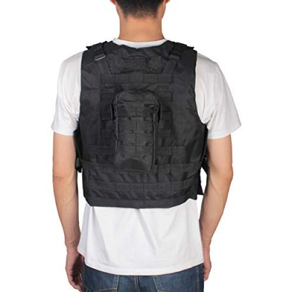 KIDYBELL Airsoft Tactical Vest 4 KIDYBELL Black Adjustable Airsoft Vest Lightweight Oxford Cloth Tactical Training Vest is Suitable for Outdoor Hunting Army Fan Combat Training Airsoft and Other Outdoor Sports