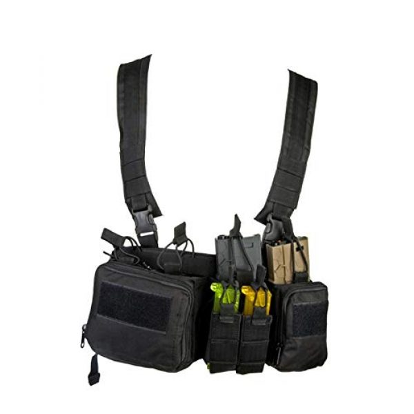 Shefure Airsoft Tactical Vest 3 Shefure CS Match Wargame TCM Chest Rig Airsoft Tactical Vest Military Pack Magazine Pouch Holster Molle System Waist Men Nylon