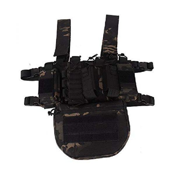 BGJ Airsoft Tactical Vest 4 Outdoor Tactical Vest Military Airsoft Shooting Combat Chest Rig Army Battle Nylon Molle Vest Bag Hunting CS Match Waist Pack