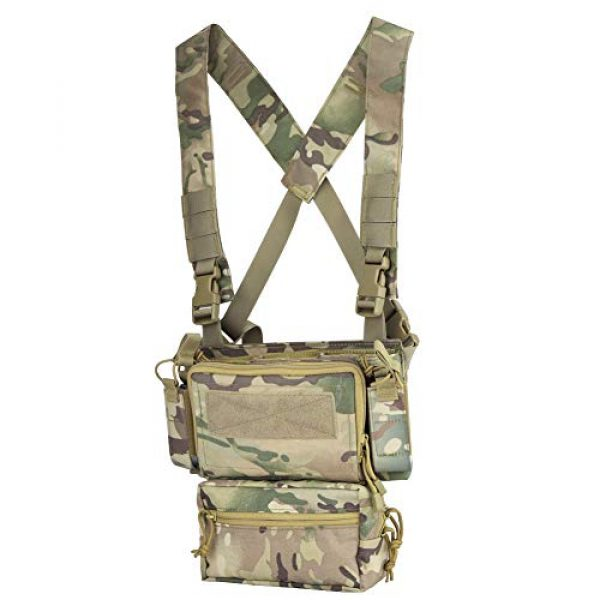 DETECH Airsoft Tactical Vest 2 DETECH Tactical Vest Army Chest Rig Carrier Armor X Harness Rifle Pistol Magazine Pouch CRX Hunting Equipment Accessories