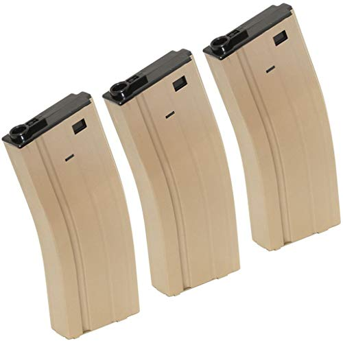 Generica  1 Airsoft Spare Parts CYMA 3pcs 140rd Mid-Cap Mag Magazine for D-Boys Classic Army WE SRC JG E&C CYMA Tokyo Marui M4 M16 Series AEG Dark Earth Tan