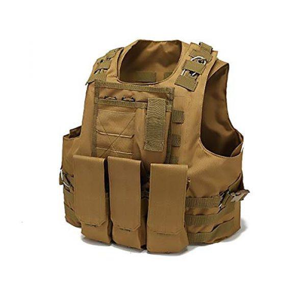 WEQ Airsoft Tactical Vest 1 WEQ Tactical Vest Outdoor Amphibious Vest Ultra-Light Breathable Combat Training Vest Adjustable for Adults(Standard Size) (Color : #A)