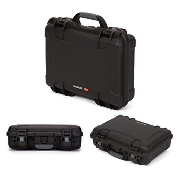 Nanuk Pistol Case 3 Nanuk 910 2UP Waterproof Hard Case w/Custom Foam Insert for Glock Pistols - Black