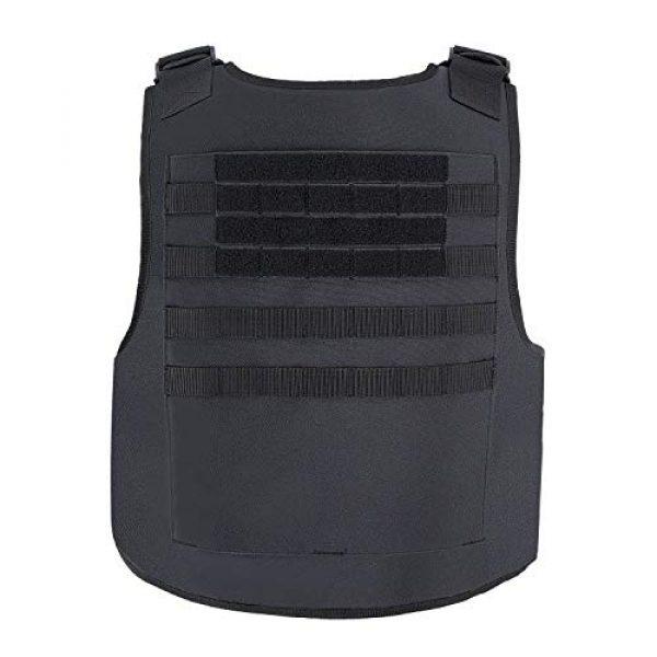 MGFLASHFORCE Airsoft Tactical Vest 3 MGFLASHFORCE Tactical Airsoft Vest Molle Adjustable Combat Training Paintball Vest