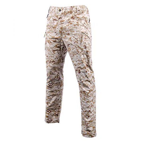 LANBAOSI Tactical Pant 2 Men's Tactical Military BDU Pants Combat Woodland Camo Outdoor Gear Trousers