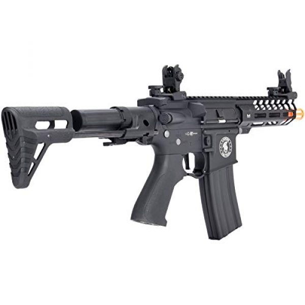 Lancer Tactical Airsoft Rifle 2 Lancer Tactical ProLine NEEDLETAIL PDW Airsoft AEG Rifle Low 350 FPS Black