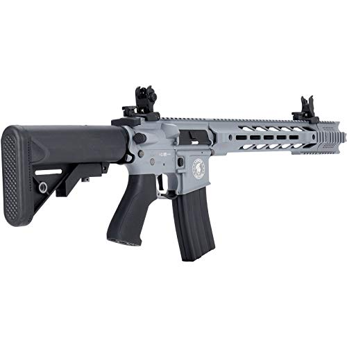Lancer Tactical  3 Lancer Tactical LT-25 ProLine Series M4 SPR Interceptor Airsoft AEG Rifle HIGH FPS Gray 395 FPS