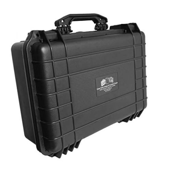 Case Club Pistol Case 5 Case Club 5 Pistol and 20 Magazine Pre-Cut Heavy Duty Waterproof Case with Included Silica Gel Canister to Help Prevent Gun Rust (Upgraded Gen-2)