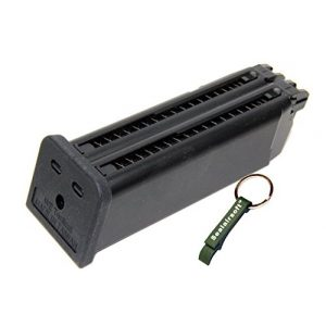 WE Airsoft Gun Magazine 1 WE 48rds Airsoft Gas Magazine For Double Barrel G17 Series GBB -Mobile Ring Included